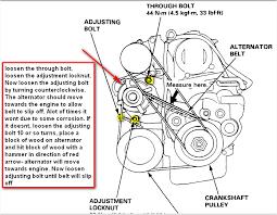 97 honda accord ex cyclinder the alternator belt bolt