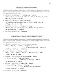 scu3u ionic and net equations precipitation reactions worksheet key