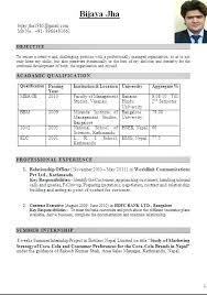 Mba Resume Format Custom Mba Resume Format Pelosleclaire