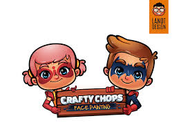 craftychops face painting logo design
