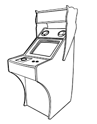 Free Coloring Pages Printable Arcade Video Games Coloring Page From