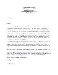 Education Cover Letter Template Cover Letter French Teacher