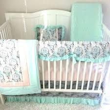 punk baby crib bedding sets for girls girl tan peach c blue skull nursery mint green home design id