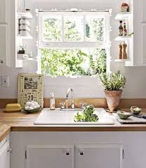 butcher block countertops open shelving white cabinets
