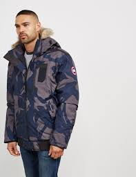 Canada Goose - Blue Mens Borden Padded Bomber Jacket Camo for Men - Lyst.  View fullscreen