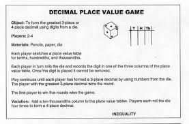 Tenths Hundredths Thousandths Chart Decimal Squares Workshop Place Value Equality