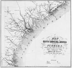 map of south carolina and georgia coast  american