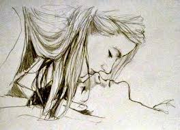 Pencil Sketches Of Couples Boy Kissing Girl Drawing At Getdrawings Com Free For