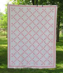 Simple Irish Chain Quilt - for sale. Quilted Twins Blog. Modern ... & Simple Irish Chain Quilt - for sale. Quilted Twins Blog. Modern Quilting.  Pink Adamdwight.com