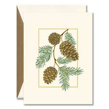 Pine Cones Boxed Holiday Greeting Cards