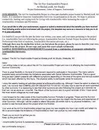 Endorsement Letter Template Sample Endorsement Letter Art For Arachnoiditis 7