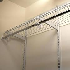 wire shelving wall mount installing closet rod and shelves closet rod installation height install wire shelving wall mount pull down closet rod wall mounted