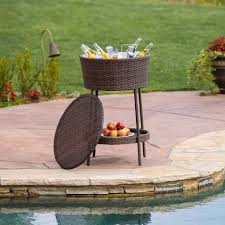 Table Drinks Cooler Outdoor Beverage Cooler Effective To Cool Youre Drinks
