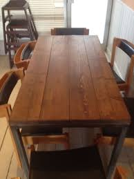 industrial furniture london. reclaimed timber industrial style dining table furniture london