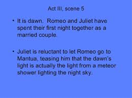 romeo and juliet act iii act iii scene 5