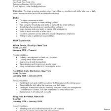 Head Cashier Resume Sample 2019 Head Cashier Resume Job