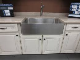 Farmhouse Sink Cabinet Install A Stainless Farmhouse Sink All Home Ideas