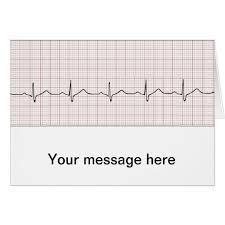 Ekg Heartbeat On Graph Paper Phd Doctor Pulse Zazzle Com
