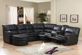Brilliant Sectional Couches With Recliners And Chaise 4 Pc Black Bonded Leather Sofa Ideas