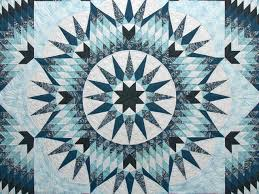 Mariner Star Quilt -- superb meticulously made Amish Quilts from ... & ... King Blue Navy Teal Mariner ... Adamdwight.com