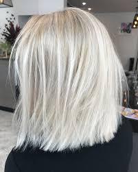 Blonde Lob Textured Short Hair Colour