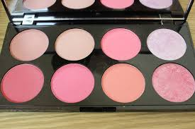 makeup revolution ultra blush and contour palette in sugar and e