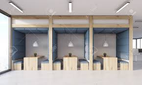 modern office ceiling. Dining Area In Modern Office. Blue Walls And Ceiling, Wooden Tables Benches. Office Ceiling I
