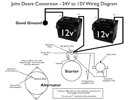 john deere 24v to 12v starter conversion kit make sure all connections are clean tight and properly connected failure to do so can cause damage to the starter and or alternator