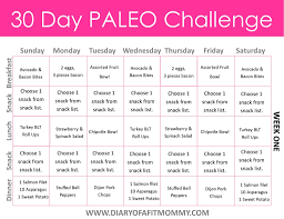 30 day low carb meal plan diary of a fit mommy30 day paleo challenge diary of a fit