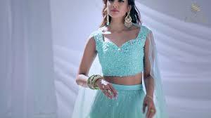 Zatin Designers Sarees Zatin Designers Mg Road Kochi Green Lehenga Call 91 9349438729
