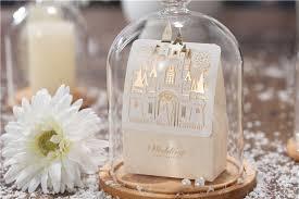 50pcs elegant castle white golden color wedding souvenir candy