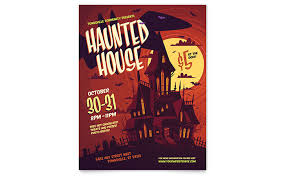 Publisher Flyers Haunted House Flyer Template Word Publisher