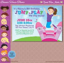 bounce house party invitation inflatable birthday invitation 128270zoom