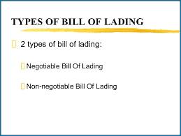 bill of loading types of bill of lading pdf 356