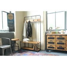 Hallway Coat Rack And Bench Cool Industrial Storage Bench Industrial Living Hallway Coat Rack And
