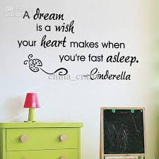 Quotes wall stickers New Listing A Dream Is A Wish Wall Quotes Vinyl Wall Stickers 45