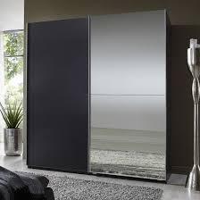 sliding door bedroom furniture. Elegant High Gloss Bedroom Furniture With Half Mirror Soft Sliding Door Wardrobe