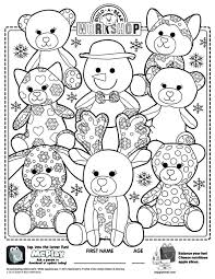 Small Picture Build A Bear Workshop Online Build A Bear Coloring Pages