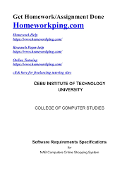 srs online shopping system get homework assignment done homeworkping com homework help