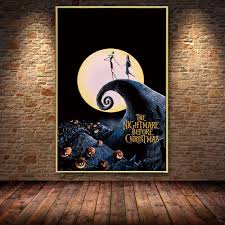 Modern wall art giclee prints,cuadros decoration. Cartoon Nightmare Before Christmas Anime Jack And Sally Oil Painting Canvas Posters Prints Cuadros Wall Art Pictures Living Room Super Offer E7f3 Cicig