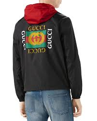 gucci jacket. nylon logo jacket, black gucci jacket 8