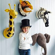 nursery animal head wall art