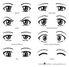 how to draw anime eyes step by step for beginners. Brilliant Eyes Anime Eye Expressions Examples Of How To Draw  On How To Draw Anime Eyes Step By For Beginners O