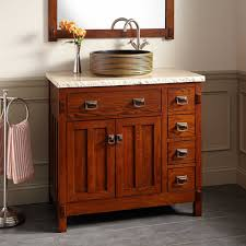 Harington Oak Vessel Sink Vanity Bathroom - Oak bathroom vanity cabinets