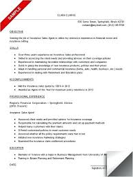 Insurance Resume Examples Insurance Sales Resume Sample Insurance