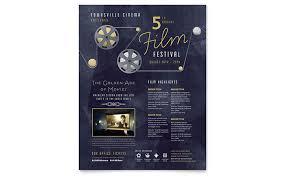 Film Picture Template Film Festival Flyer Template Design