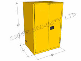 metal storage cabinet yellow. Industrial Metal Safety Flammable Storage Cabinet For Oil , Chemical Liquid Yellow