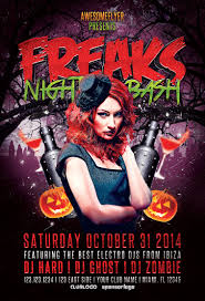 Halloween Party Flyer Freaks Night Halloween Party Flyer Awesomeflyer 7
