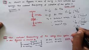 Mechanical Vibration Gate Previous Year Question With Solution Youtube