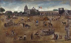 west side main plaza san antonio texas 1849 by william g m samuel